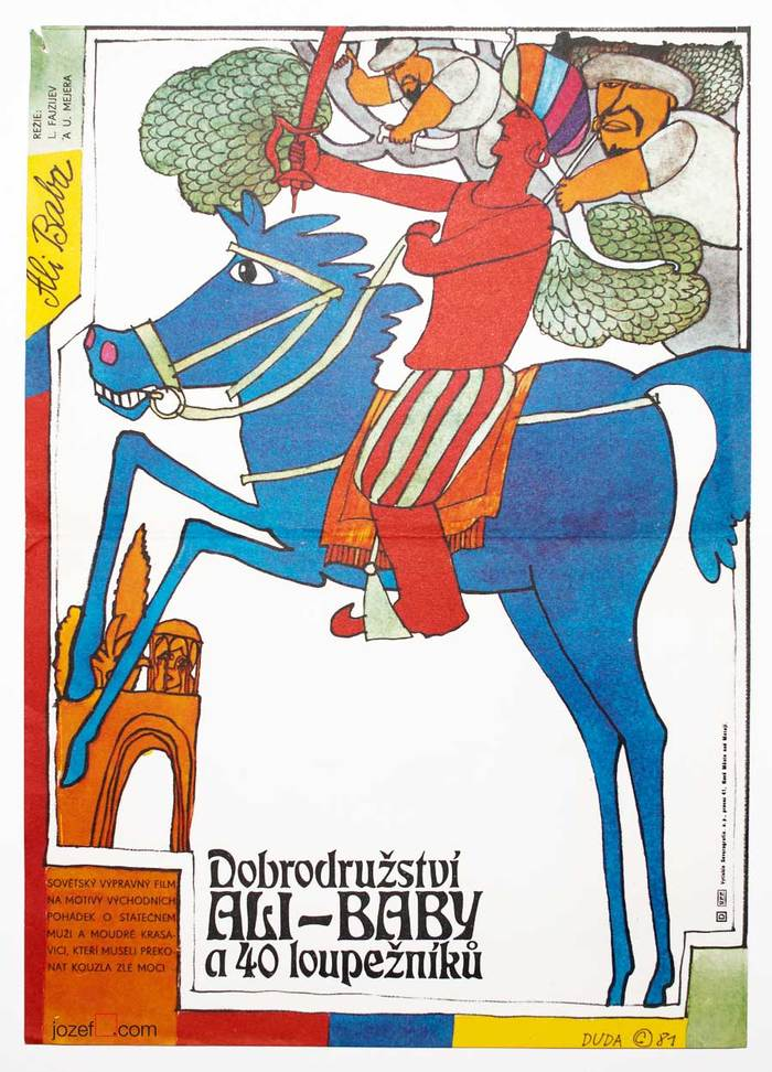 Ali Baba and the Forty Thieves movie poster (Czechoslovakia)