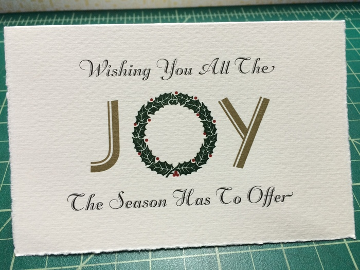 """JOY"" holiday card 7"