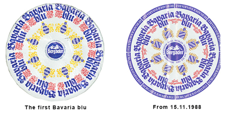 """The first Bavaria blu was very playful and ornate – the way they liked it in the 70s – and the successor design used from the end of 1988 to the late 90s was still very true to the original design."""