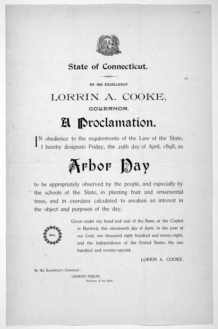 Connecticut Arbor Day Proclamation