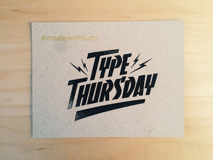 Type Thursday: January 2015 logo 1