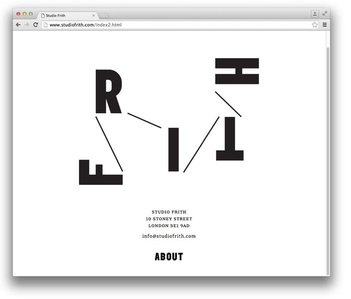 Studio Frith website 1
