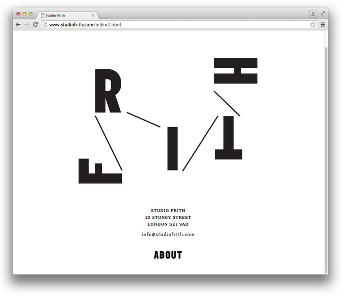 Studio Frith website 1
