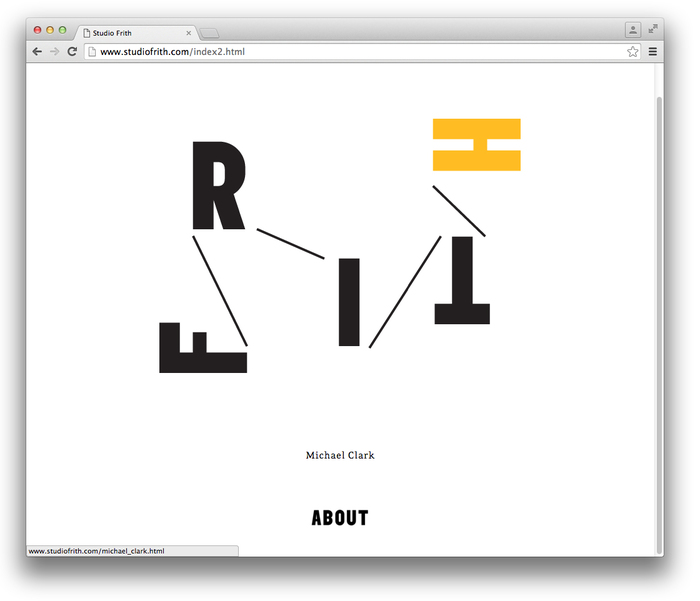 Studio Frith website 2