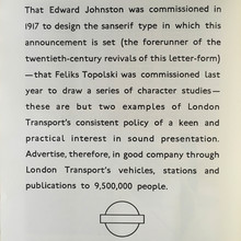 London Transport ad: Edward Johnston