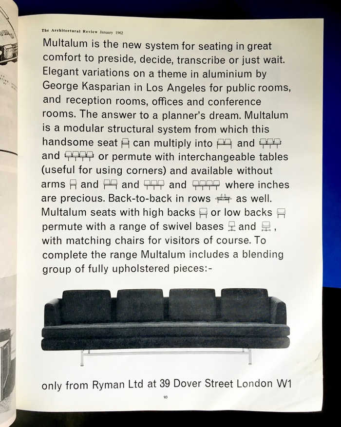Multalum Seating System ad