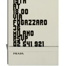 Prada SS12 Show invitation