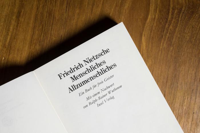 Menschliches, Allzumenschliches by Nietzsche 2