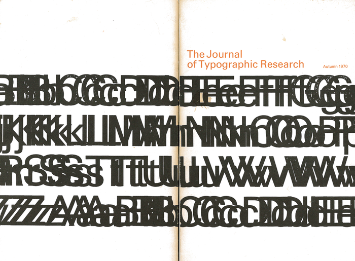 Volume IV, Number 4 from October 1970 was the last issue to use Stauffacher's initial cover design.