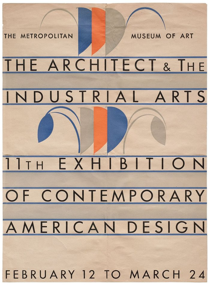 The Architect & The Industrial Arts exhibition poster
