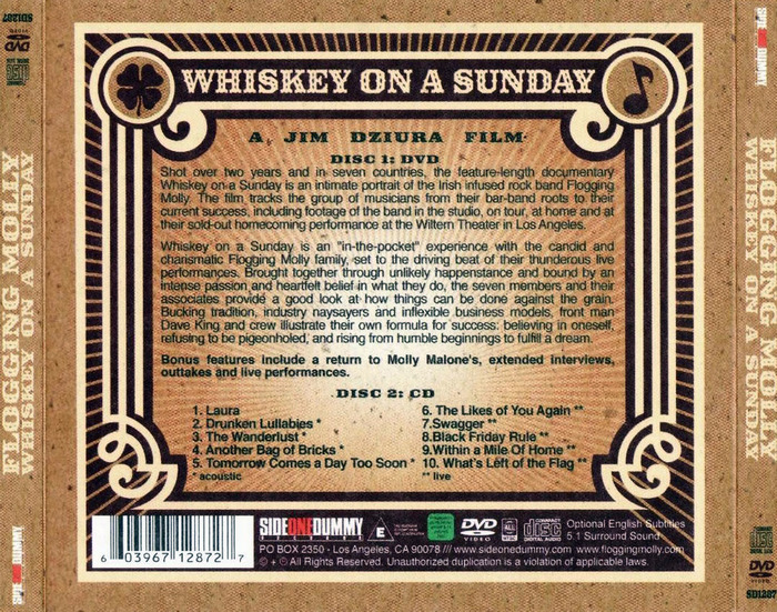 Whiskey On A Sunday by Flogging Molly 4