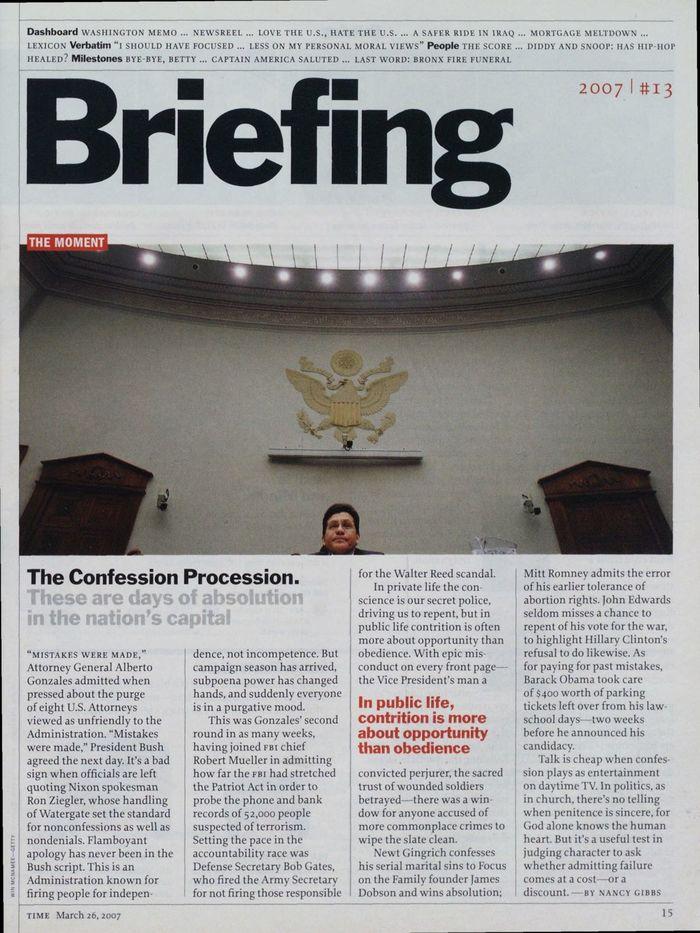 TIME magazine, Mar 26, 2007 1