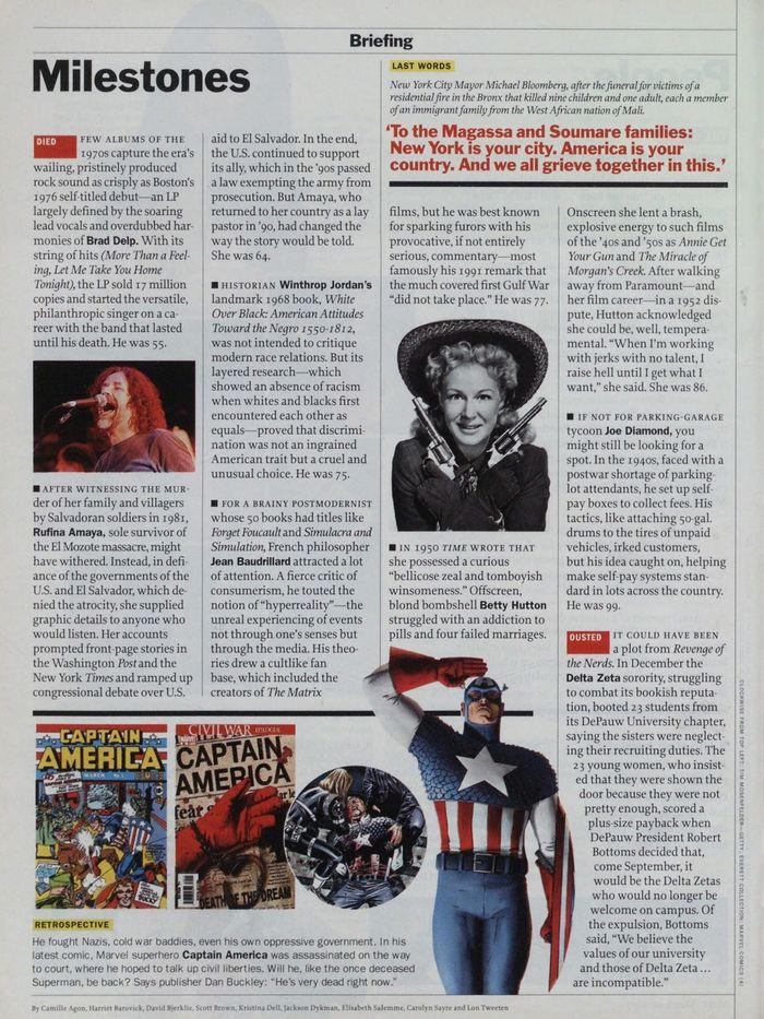 TIME magazine, Mar 26, 2007 5