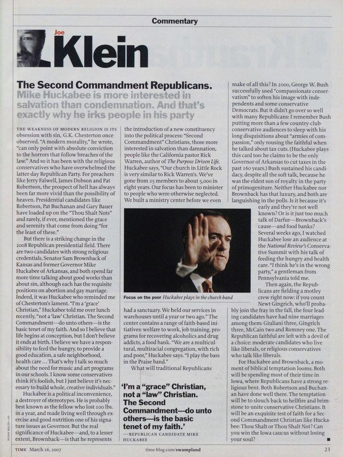 TIME magazine, Mar 26, 2007 6