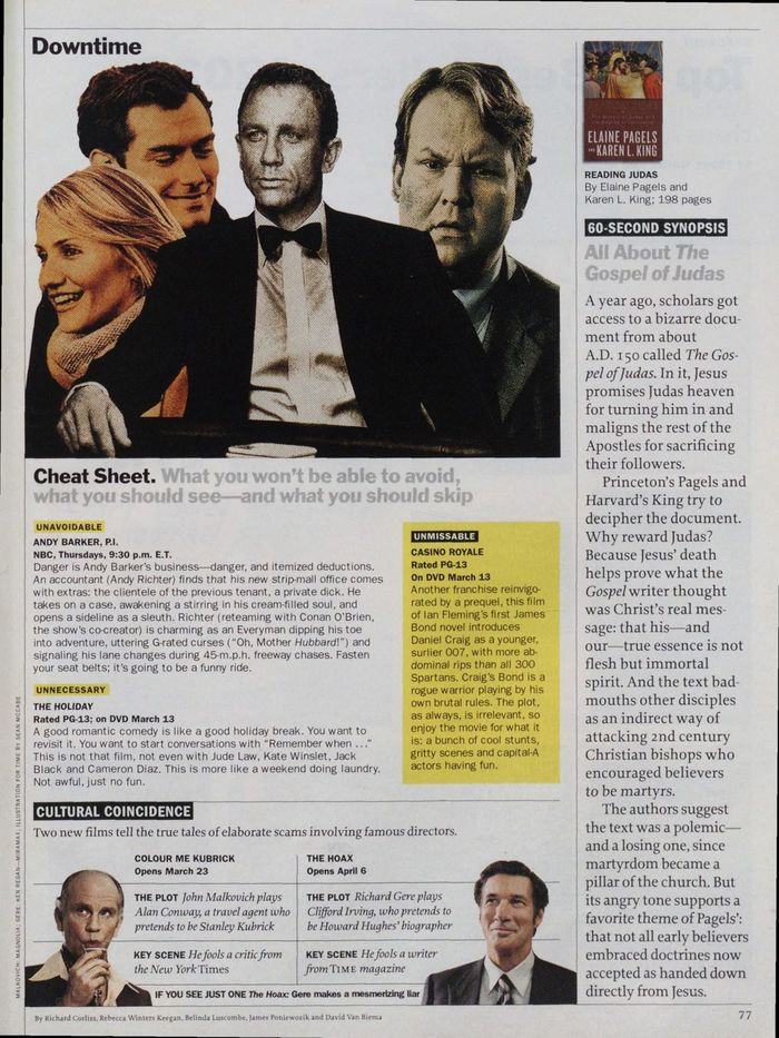 TIME magazine, Mar 26, 2007 10