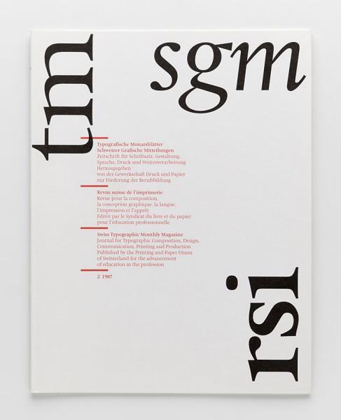 Typografische Monatsblätter, Nr. 2, 1987 2