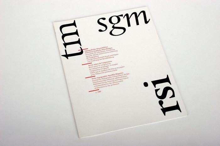 Typografische Monatsblätter, Nr. 2, 1987 1