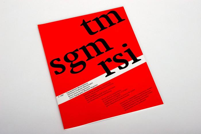 Typografische Monatsblätter, Nr. 4, 1987 1