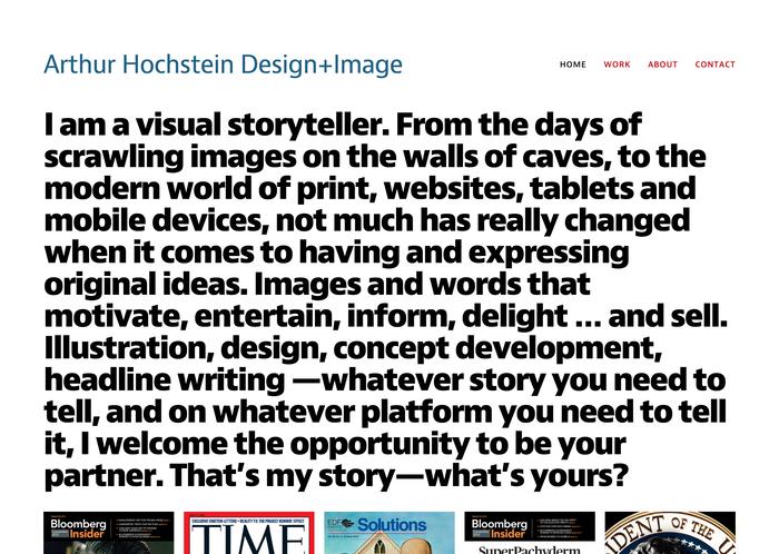 Arthur Hochstein portfolio site 1