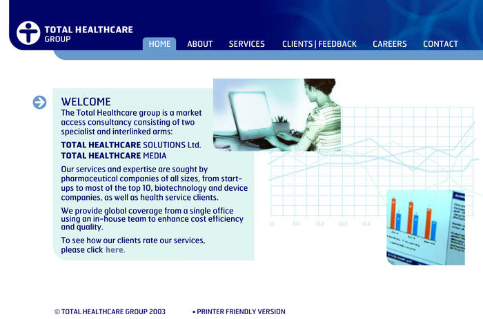 Total Healthcare Group website 2