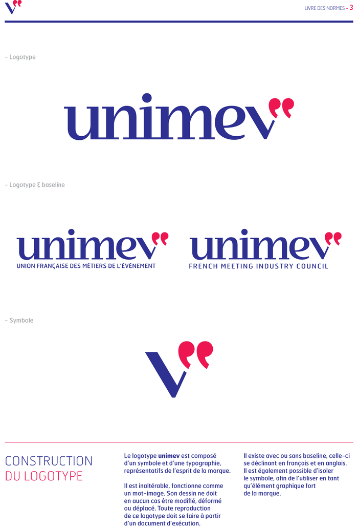 Unimev identity and website 3