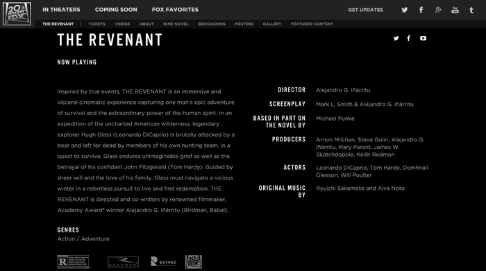 The Revenant promotional material 3