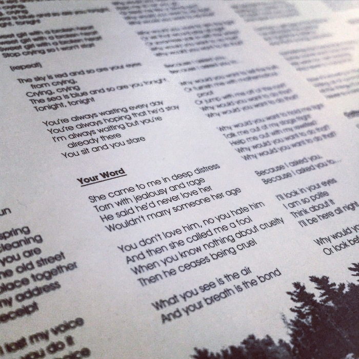 """A close-up on the lyrics of """"Your Word,"""" one of my favorite songs from the new album."""