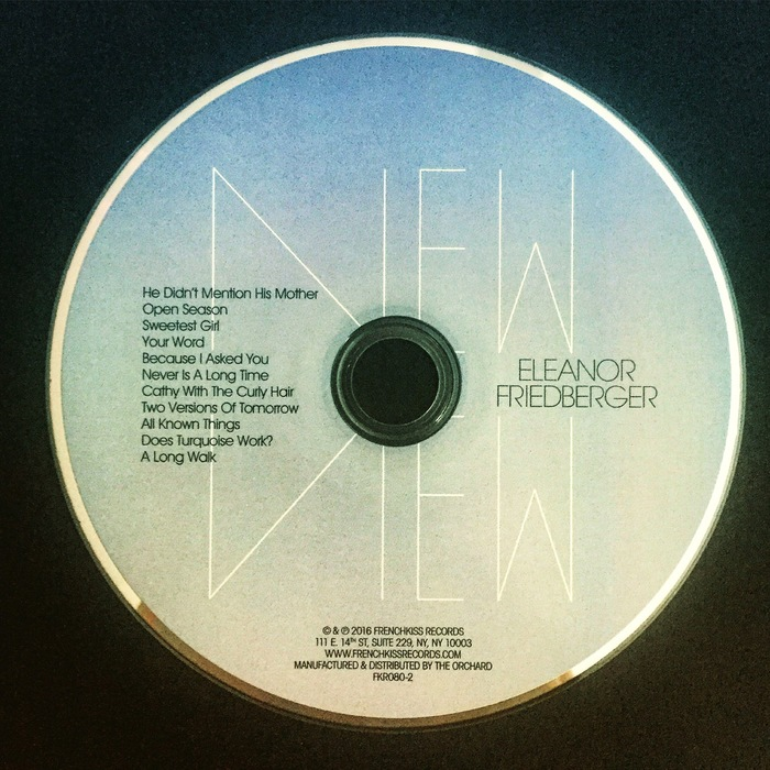 The disc's face features Mike Reddy's type treatment along with song titles set in ITC Avant Garde Gothic.