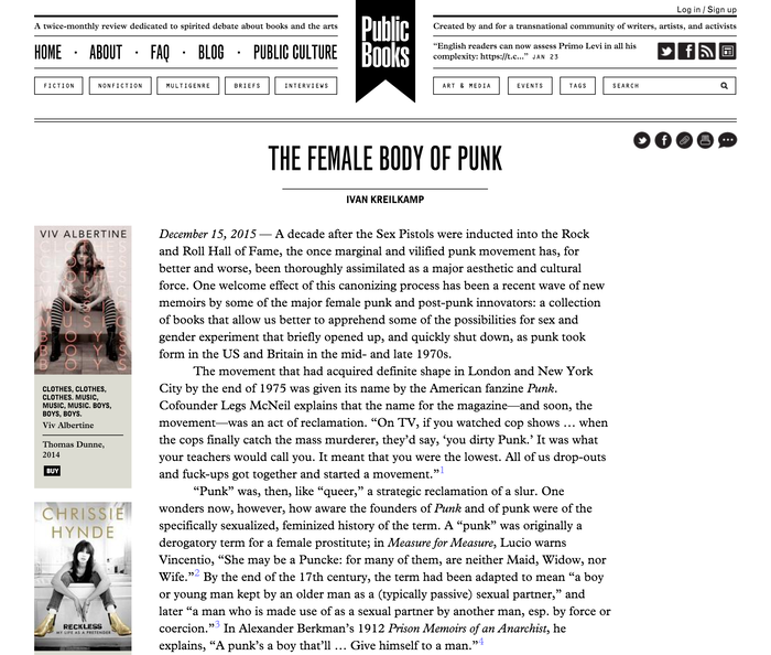 Article page.