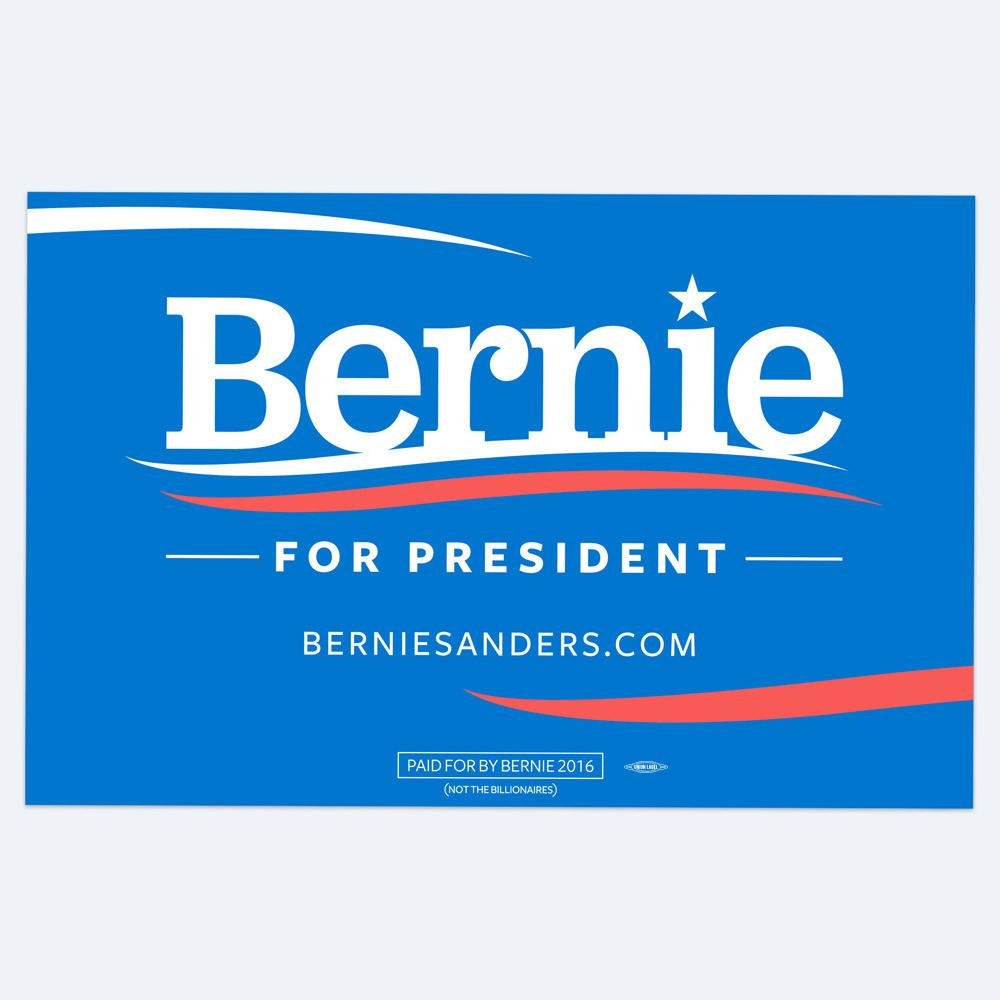 bernie sanders for president 2016 fonts in use