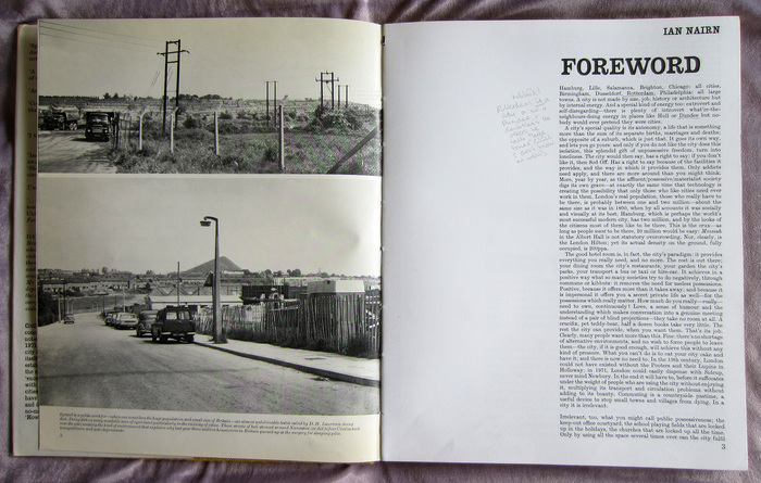 Interior pages with a foreword by Ian Nairn