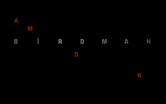 Birdman poster and opening credits 5