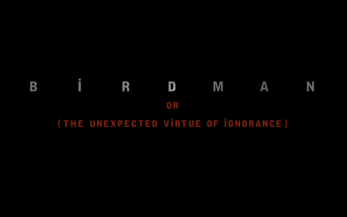 Birdman poster and opening credits 6