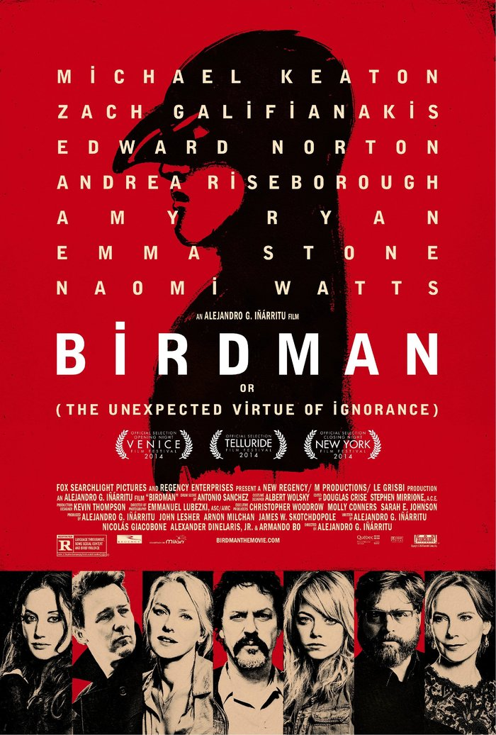 Birdman poster and opening credits 1