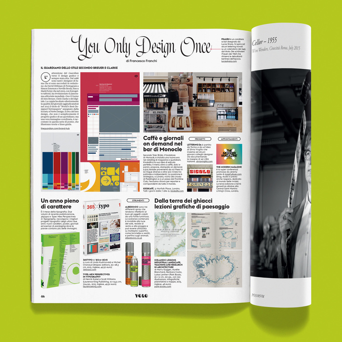"""""""You Only Design Once"""" column in IL magazine 1"""