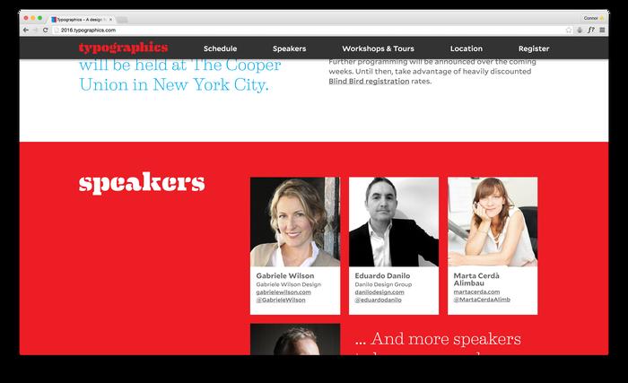 Typographics 2016 website 2