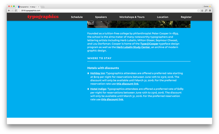 Typographics 2016 website 3