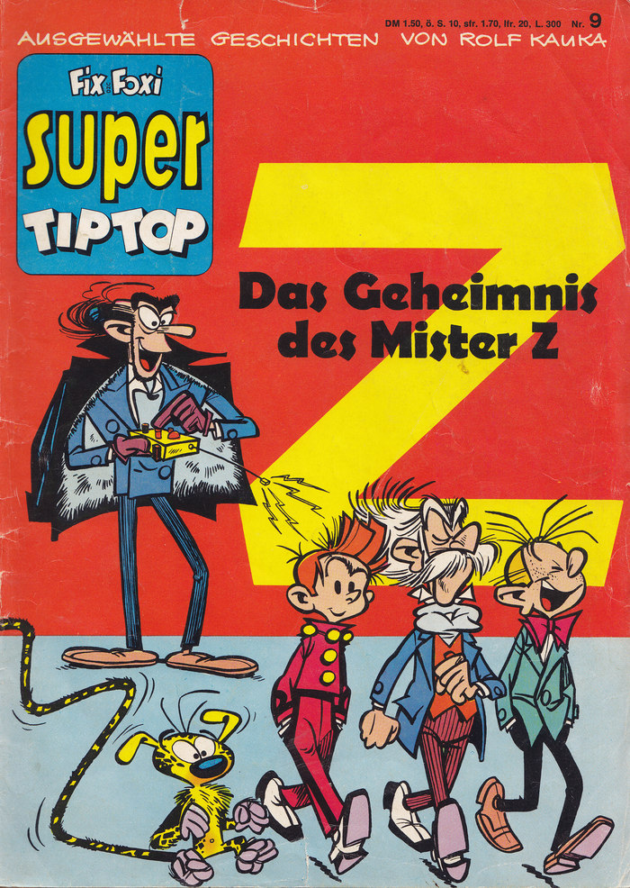 Fix und Foxi Super Tip Top Nr.9, 1968 Pit und Pikkolo (Spirou & Fantasio): Das Geheimnis des Mister Z, by Franquin