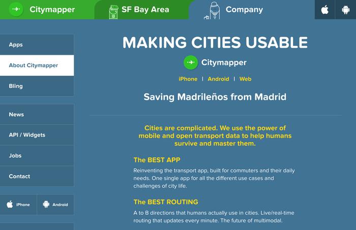 Citymapper identity (2013–) 8