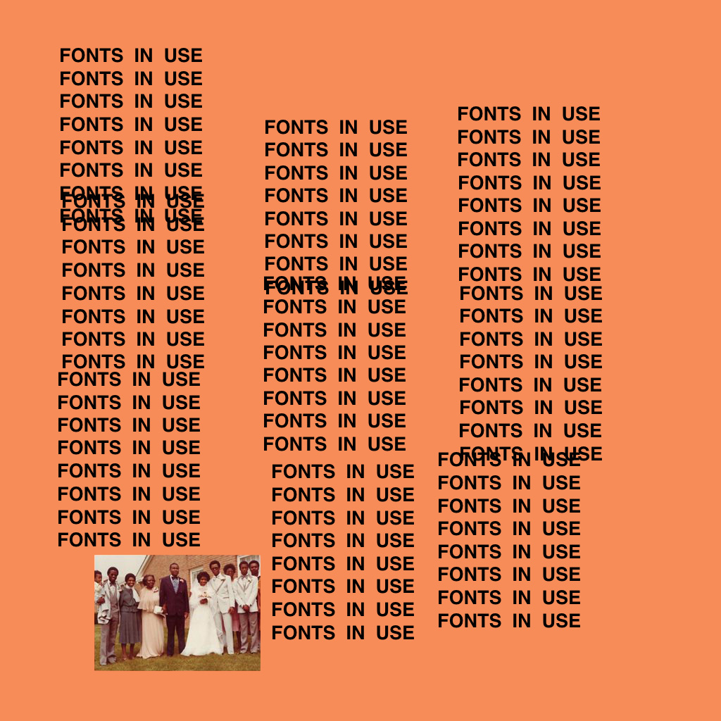 The Life of Pablo by Kanye West - Fonts In Use