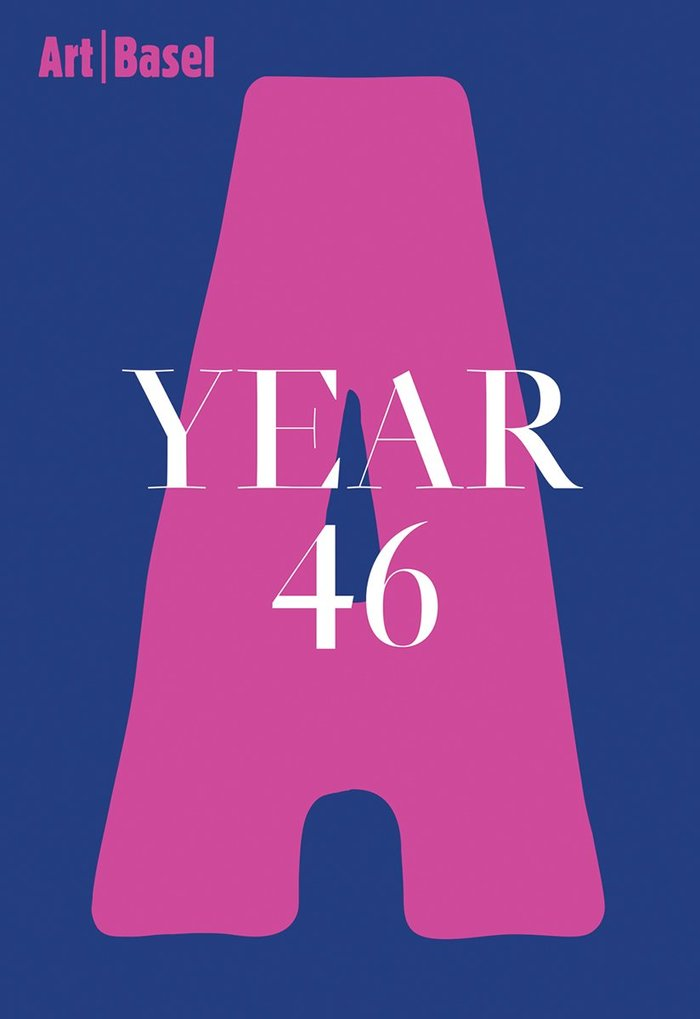 Cover of Art Basel Year 44, the first edition to be designed by Gavillet & Rust and published by JRP Ringier.