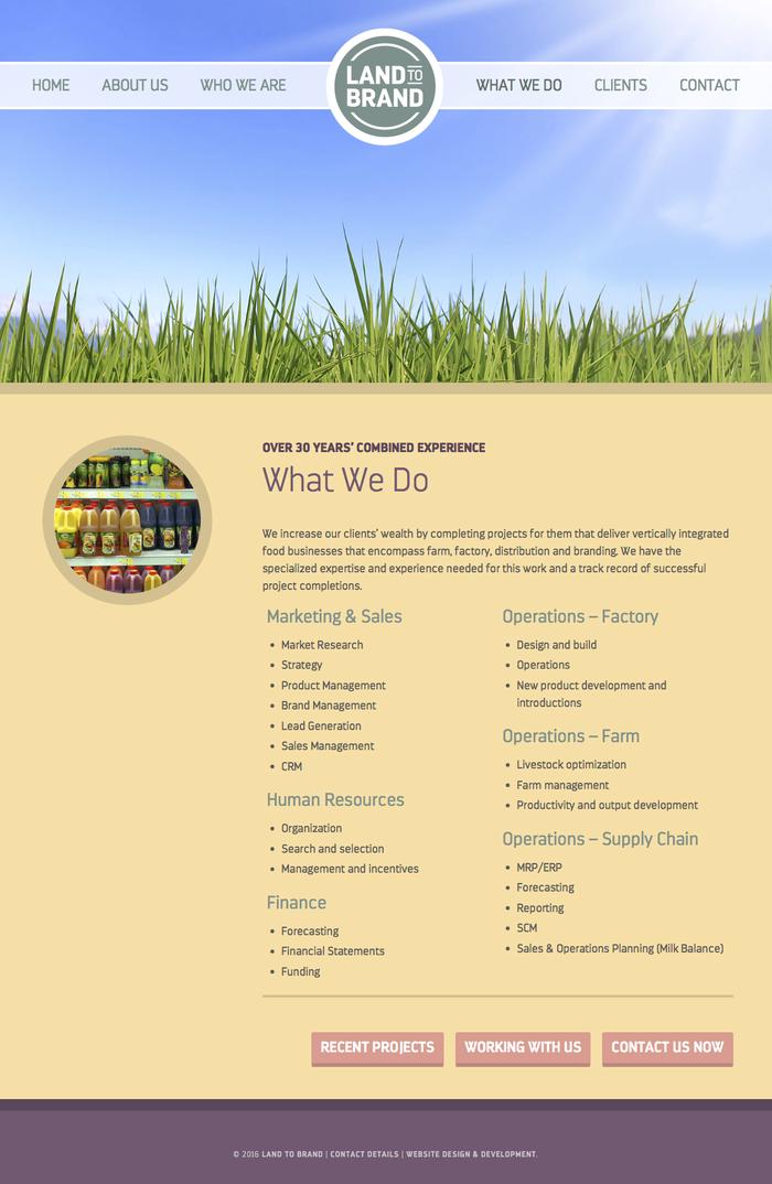 Land to Brand website 1