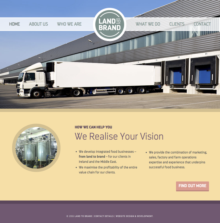 Land to Brand website 2