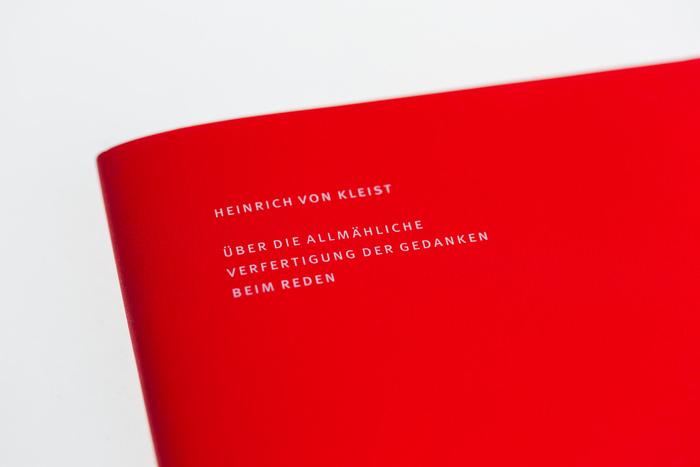 Über die allmähliche Verfertigung der Gedanken beim Reden by Heinrich von Kleist 2