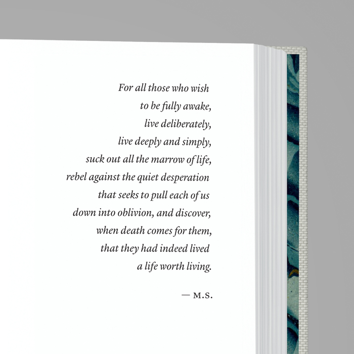 Close-up of the dedication page.