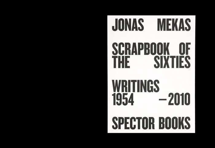 Jonas Mekas: Scrapbook of the Sixties 1