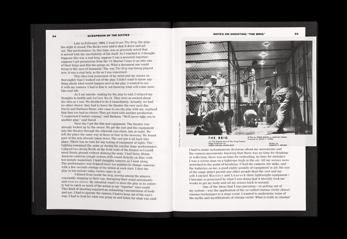 Jonas Mekas: Scrapbook of the Sixties 3