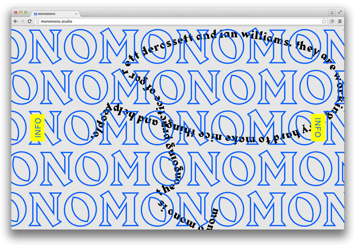 Mono Mono website 3