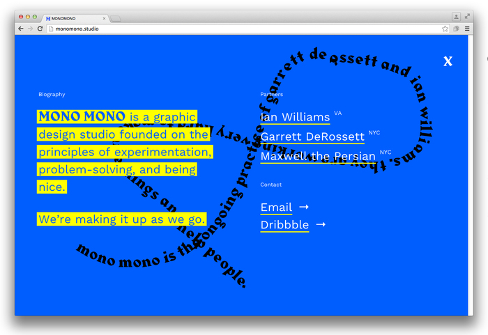 Mono Mono website 5