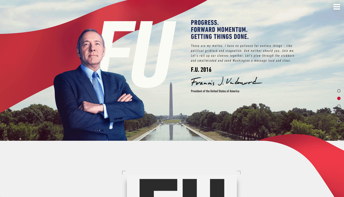House of Cards: Frank Underwood presidential campaign, 2016 3